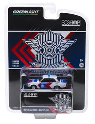 1971 Datsun 510 Indonesia Police Highway Patrol Patroli Jalan Raya PJR Police JDM Bishop 1/64 By Greenlight 51193B