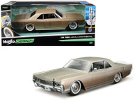 1966 Lincoln Continental Gold 1/24 Scale Diecast Car Model By Maisto 32531