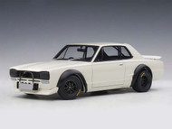 1972 Nissan Skyline GT-R KPGC-10 Racing White 1/18 Scale Diecast Car Model By AUTOart 87279