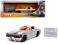 1963 Chevrolet Corvette Sting Ray Raw Metal With Black Stripe LOPRO Lifestyle 1/24 Scale Diecast Car Model By Jada 31079