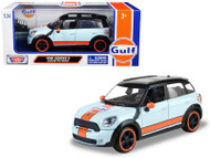 Mini Cooper S Countryman Gulf Oil 1/24 Scale Diecast Car Model By Motor Max 79653