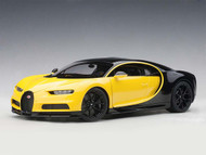 Bugatti Chiron 2017 Yellow & Black 1/18 Scale Diecast Car Model By AUTOart 70994