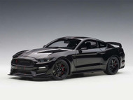 Ford Shelby GT-350R Shadow Black With Black Stripes 1/18 Scale Diecast Car By AUTOart 72934