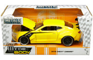 2016 Chevrolet Camaro Widebody Yellow 1/24 Scale Diecast Car Model By Jada Toys 31064