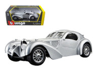 Bugatti Atlantic Silver 1/24 Scale Diecast Car Model By Bburago 22092