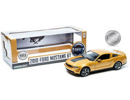 2010 Ford Mustang GT Sunset Gold Metallic 1/18 Scale Diecast Car Model By Greenlight 12870