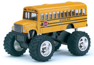"SCHOOL BUS BIG FOOT 5.0"" LONG PULL BACK ACTION DISPLAY TRAY TOYS BOX OF 12 BY KINSMART KT5108"