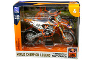 KTM 450 SX-F #222 TONY CAIROLI RED BULL MOTORCYCLE DIRT BIKE 1/10 SCALE BY NEWRAY 58123