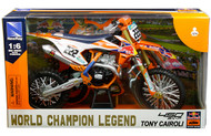 KTM 450 SX-F #222 TONY CAIROLI RED BULL MOTORCYCLE DIRT BIKE 1/6 SCALE BY NEWRAY 49673