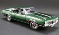 1970 OLDSMOBILE 442 W-30 OLDS GREEN 1/18 SCALE DIECAST CAR MODEL BY ACME A 1805612