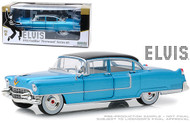 1955 CADILLAC FLEETWOOD SERIES 60 BLUE ELVIS PRESLEY 1/24 SCALE DIECAST CAR MODEL BY GREENLIGHT 84093