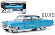 1955 CADILLAC FLEETWOOD SERIES 60 BLUE ELVIS PRESLEY 1/24 SCALE DIECAST CAR MODEL BY GREENLIGHT 84093