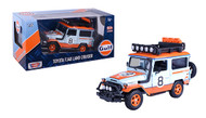 TOYOTA FJ40 LAND CRUISER GULF LIVERY 2400 MADE 1/24 SCALE BY MOTOR MAX 79648