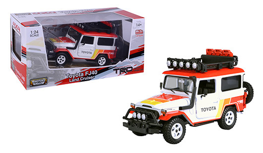 Motormax 1:24 Toyota FJ40 Land Cruiser 4x4 Overlanders Diecast Model Red 79137