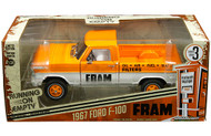 1967 FORD F-100 TRUCK FRAM RUNNING ON EMPTY 1/24 SCALE DIECAST MODEL BY GREENLIGHT 85042