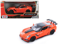 2019 Chevrolet Corvette ZR1 Orange 1/24 Scale Diecast Car Model By Motor Max 79356