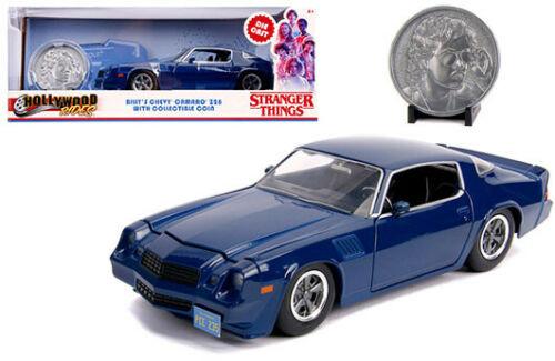 1979 CHEVROLET CAMARO Z28 BLUE BILLY STRANGER THINGS 1/24 SCALE DIECAST CAR MODEL BY JADA 31110