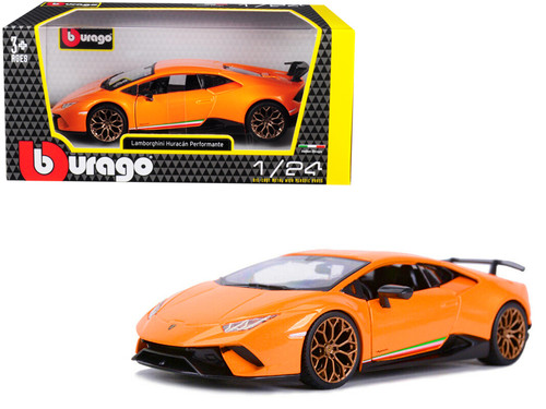Lamborghini Huracan Performante Orange 1/24 Scale Diecast Car Model By Bburago 21092