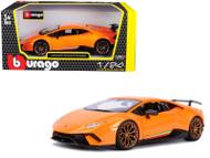 Lamborghini Huracan Performante Orange 1/24 Scale Diecast Car Model By Bburago 21092