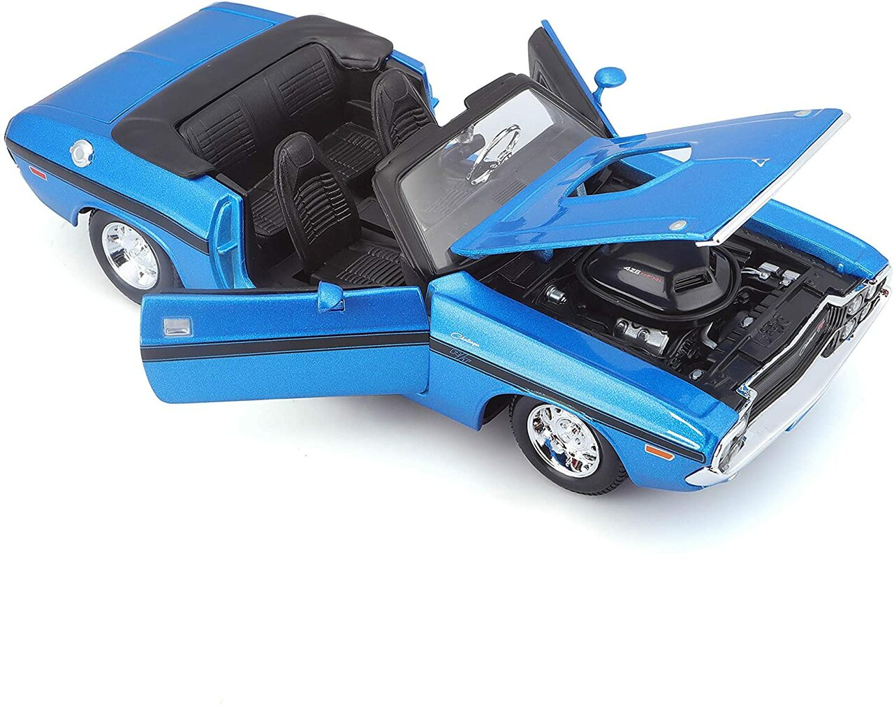 1970 DODGE CHALLENGER R//T GREEN 1//64 SCALE DIECAST CAR BY AUTO WORLD AWSP050