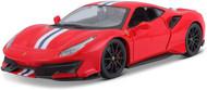 FERRARI 488 PISTA RED WITH STRIPES 1/24 SCALE DIECAST CAR MODEL BY BBURAGO 26026