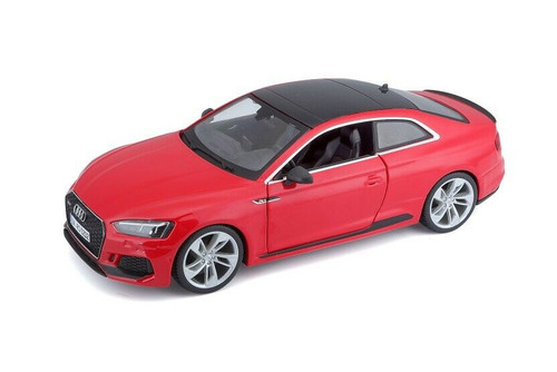 AUDI RS 5 COUPE RED WITH BLACK TOP 1/24 SCALE DIECAST CAR MODEL BY BBURAGO 21090