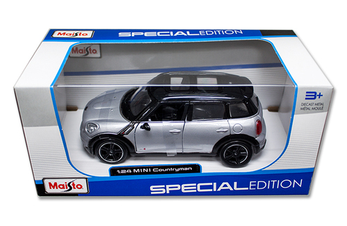 Mini Cooper Countryman Silver 1/24 Scale Diecast Car Model By Maisto 31273
