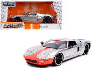 2005 Ford GT Silver 1/24 Scale Diecast Car Model By Jada Toys 31324