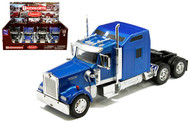 KENWORTH W900 SEMI TRUCK CAB SET OF 2 BLACK & BLUE 1/32 SCALE BY NEWRAY 52931