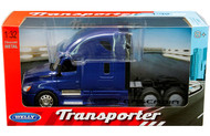 FREIGHTLINER CASCADIA TRANSPORTER BLUE CAB SEMI TRUCK 1/32 SCALE BY WELLY 32695