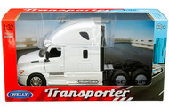 FREIGHTLINER CASCADIA TRANSPORTER WHITE CAB SEMI TRUCK 1/32 SCALE BY WELLY 32695