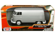 Volkswagen Type 2 T1 Delivery Van Bus Grey 1/24 Scale Diecast Model By Motor Max 79342
