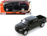 2019 DODGE RAM 400 CREW CAB LARAMIE PICKUP TRUCK BLACK 1/24 SCALE BY MOTOR MAX 79357