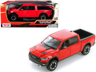 2019 DODGE RAM 400 CREW CAB REBEL PICKUP TRUCK RED 1/24 SCALE BY MOTOR MAX 79358