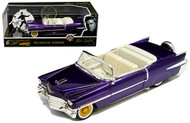 1956 CADILLAC ELDORADO PURPLE ELVIS PRESLEY FIGURE 1/24 SCALE BY JADA TOYS 30985