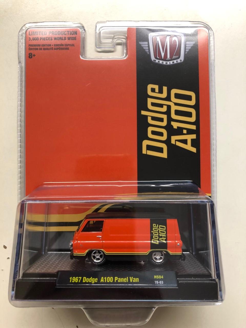 Diecast M2 Machines 1967 Dodge A-100 Panel Van Mopar SEMA Exclusive 1:64