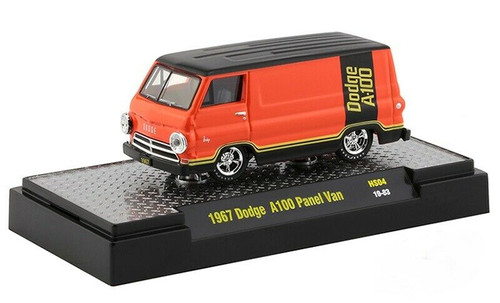 1967 DODGE A-100 PANEL VAN HOBBY EXCLUSIVE 3600 MADE 1/64 SCALE DIECAST CAR MODEL BY M2 MACHINES 32500-HS04