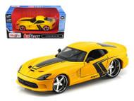 2013 Dodge Viper SRT Yellow 1/24 Scale Diecast Car Model By Maisto 31363