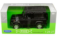 Land Rover Defender Black Roof Rack 1/24 Scale Diecast Car Model By Welly 24985