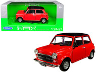 MINI COOPER 1300 RED 1/24 SCALE DIECAST CAR MODEL BY WELLY 22496