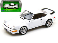 PORSCHE 964 TURBO WHITE 1/24 SCALE DIECAST CAR MODEL BY WELLY 24023