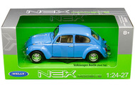 Volkswagen Beetle Blue 1/24 Scale Diecast Car Model By Welly 22436