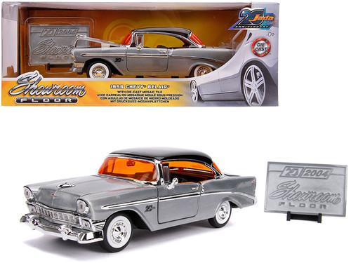 1956 Chevrolet Bel Air Brushed Metal Mosaic Tile 1/24 Scale Diecast Car Model By Jada 31081