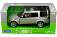 Range Rover Land Rover Discovery 4 Silver 1/24 Scale Diecast Model By Welly 24008