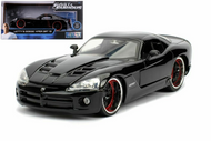 DODGE VIPER SRT10 BLACK LETTYS FAST & FURIOUS 1/24 SCALE DIECAST CAR MODEL BY JADA 30731