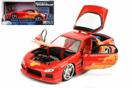 MAZDA RX-7 JULIUS ORANGE FAST & FURIOUS 1/24 SCALE DIECAST CAR MODEL BY JADA 30745