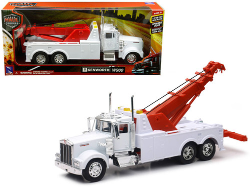 Kenworth W900 Wrecker Tow Truck White 1/32 Scale By Newray 10873