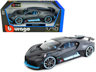 Bugatti Divo 2018 Dark Grey 1/18 Scale Diecast Car Model By Bburago 11045