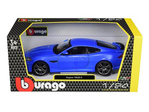 Jaguar XKR-S Blue 1/24 Scale Diecast Car Model by Bburago 21063