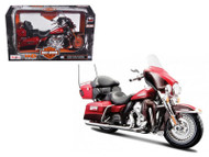 2013 Harley Davidson FLHTK Electra Glide Ultra Limited Red Bike Motorcycle Model 1/12 Scale By Maisto 32323